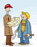 Engineer and Builder talking