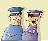 Two thieves talking