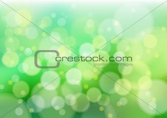 Green defocus lights