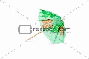Green Cocktail Umbrella