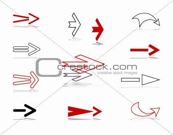 Arrows. Design elements set.