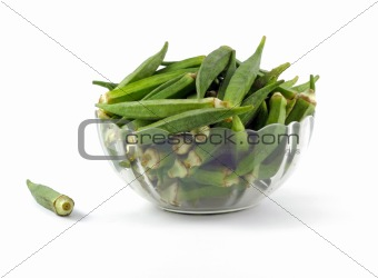Bowl full of Okra