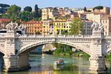 Ponte Vittorio Emanuele II in Rome, Italy