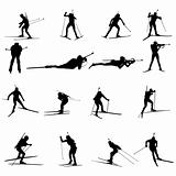 biathlon silhouette set