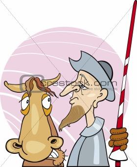 Don Quixote and his horse