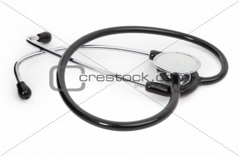 single stethoscope on white