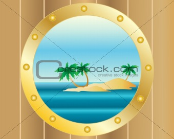 porthole with island