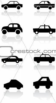 Car symbol vector set.