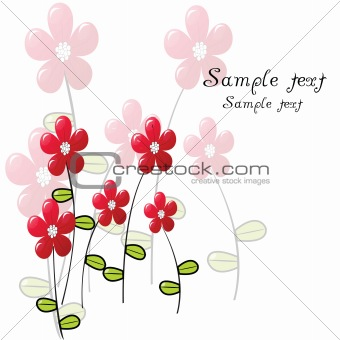 Greeting card with delicate flowers