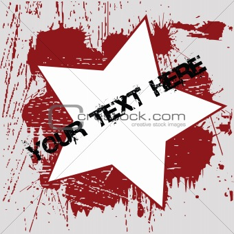 Grunge background with red ink spots
