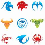 glossy animal icons