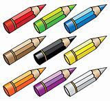 cartoon pencils