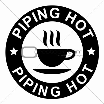 piping hot sign