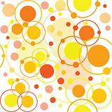 Orange circles and dots pattern
