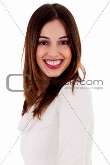 potrait of smiling beautiful lady