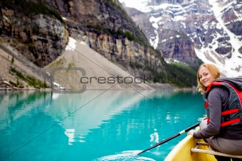 Woman Canoeing Portrait