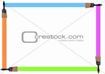 Paintbrush frame