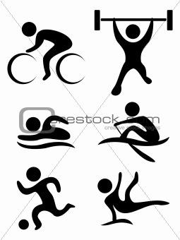 vector sports symbols