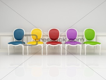 colored classic chair