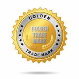 Golden trade mark label