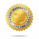 Warranty life time golden label