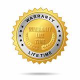 Warranty life time golden label