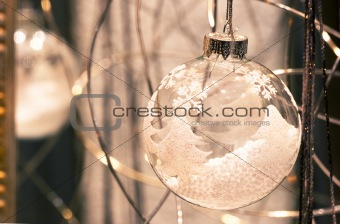 Christmas ball glass