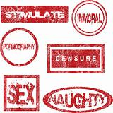 Red stamps with sexual meaning