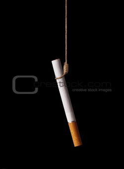 Cigarette on a gallows knot