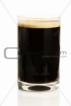 black espresso coffee in a glass