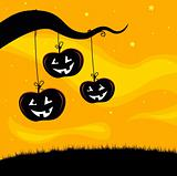 Halloween Jack O'Lantern Tree background