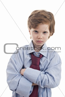 little businessman sad