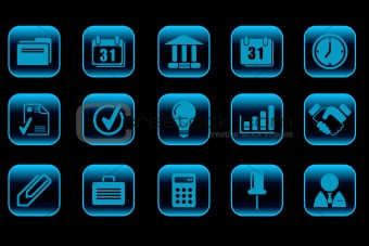 Business icons blue Series
