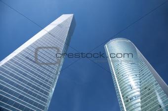 crystal blue skyscrapers