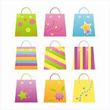 colorful shopping bag icons