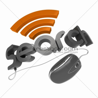 3d Search word with mouse