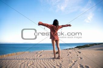 greeting ocean horizon