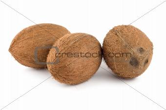 Three coconut