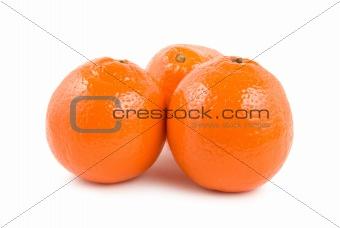 Three ripe orange