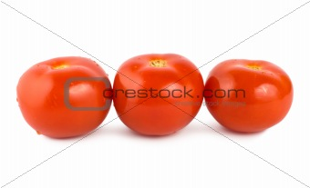 Three tomato isolated