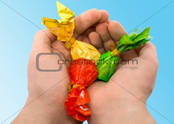 Candies in a hand