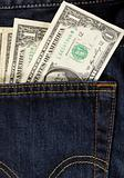 dollars in back pocket
