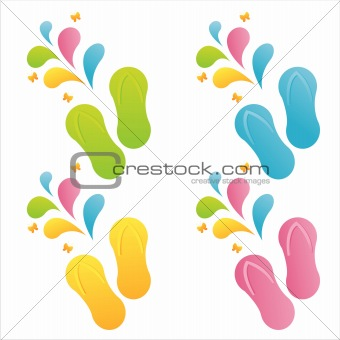 flip flops with splashes
