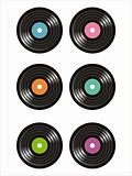 colorful vinyl records icons