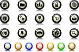 website and internet icons Label Button series
