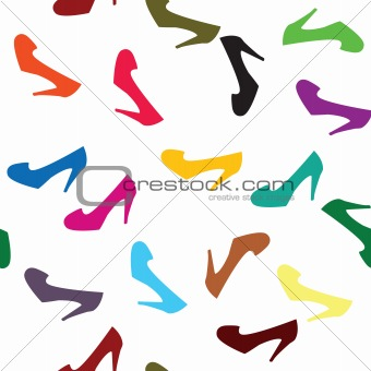 Background with colored shoes