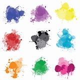 Set of colored splashes