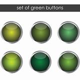 Set of green buttons