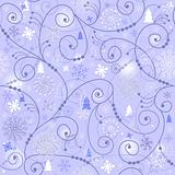 Blue-white christmas seamless pattern
