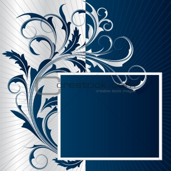 Blue background with   frame